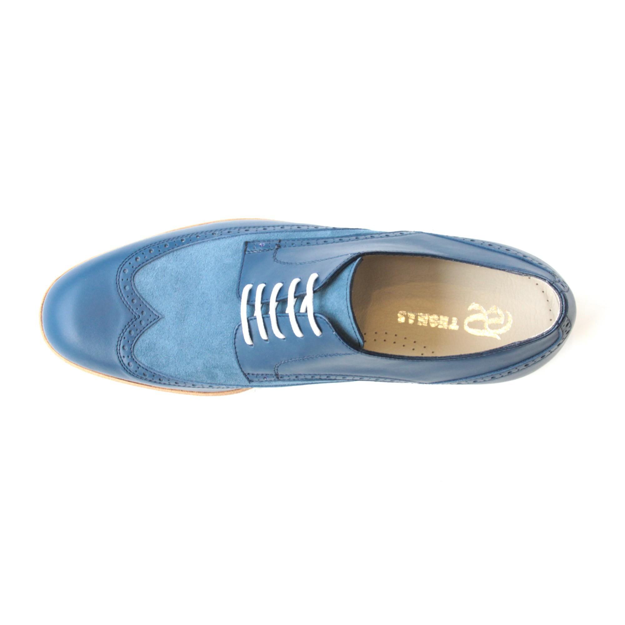 d8fc61e82a915 Scarpe blu con lacci