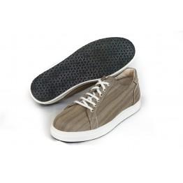 Sneakers uomo bassa in fibra di legno