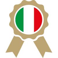 coccarda con bamdiera italiana