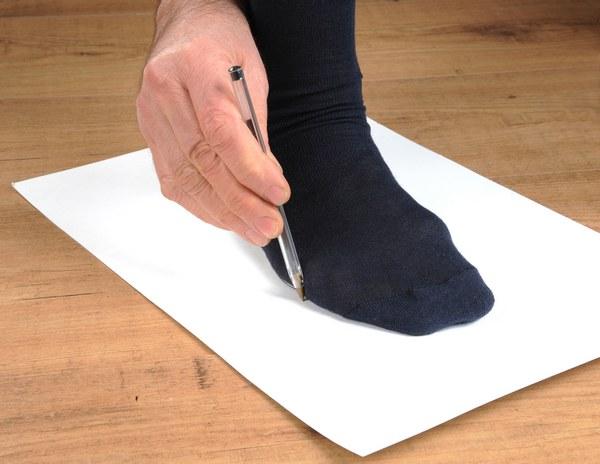 misurazione piede per scarpe su misura